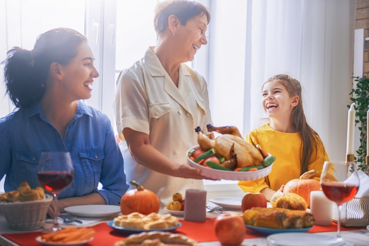 Обед в русской семье